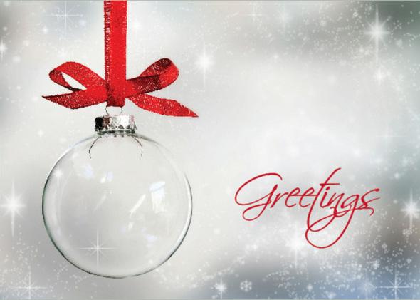ornament christmas cards